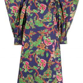 Givenchy floral print shift dress - Blue