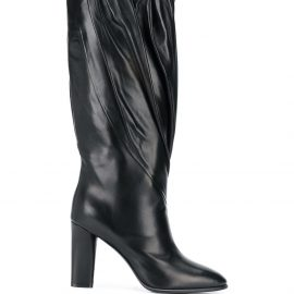 Givenchy pleated calf high boots - Black