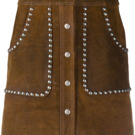 Golden Goose Artemide studded A-line skirt - Brown