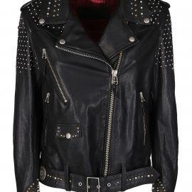 Golden Goose Black Leather Dakota Jacket