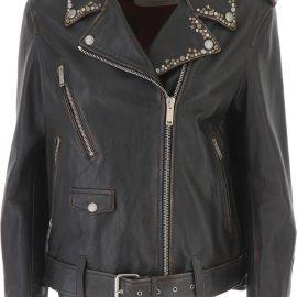 Golden Goose Leather Jacket for Women On Sale, Black, Leather, 2021, 10 12