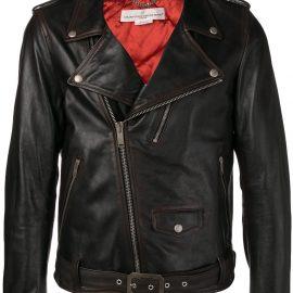 Golden Goose classic biker jacket - Brown