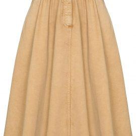 Golden Goose flared denim skirt - 55367 LIGHT BISCUIT
