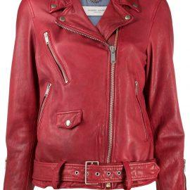Golden Goose leather biker jacket - Red