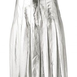 Golden Goose metallic pleated skirt - SILVER