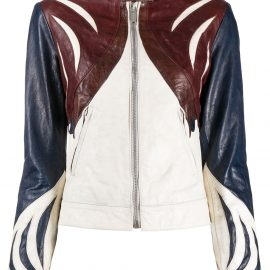 Golden Goose panelled leather jacket - Brown