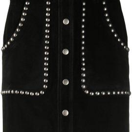 Golden Goose studded A-line mini skirt - Black