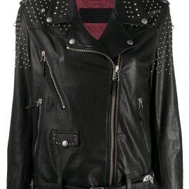 Golden Goose studded star biker jacket - Black