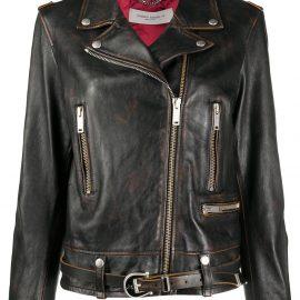 Golden Goose zip-up biker jacket - Black