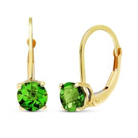 Green Diamond Boston Drop Earrings 1 ctw in 9ct Gold