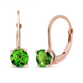 Green Diamond Boston Drop Earrings 1 ctw in 9ct Rose Gold