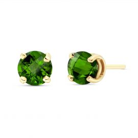 Green Diamond Stud Earrings 1 ctw in 9ct Gold