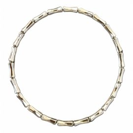 Gucci Bamboo white gold bracelet