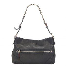 Gucci Black Leather Capri Ranch Shoulder Bag