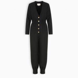 Gucci Black wool silk jumpsuit