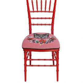 Gucci Chiavari cat-print chair - Red