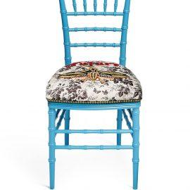 Gucci Chiavari embroidered chair - Blue