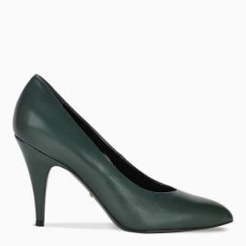 Gucci Green leather pumps