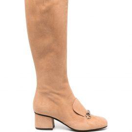 Gucci Horsebit-detail knee-length boots - Neutrals