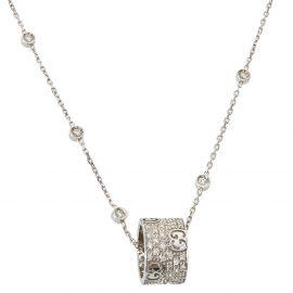 Gucci Icon Stardust Diamond 18K White Gold Pendant Necklace
