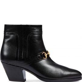 Gucci Interlocking G Horsebit ankle boots - Black