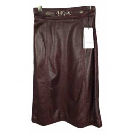 Gucci Leather mid-length skirt