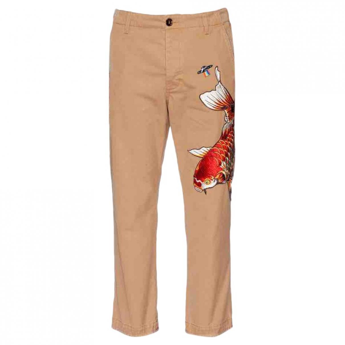 Gucci N Beige Cotton Trousers for Men