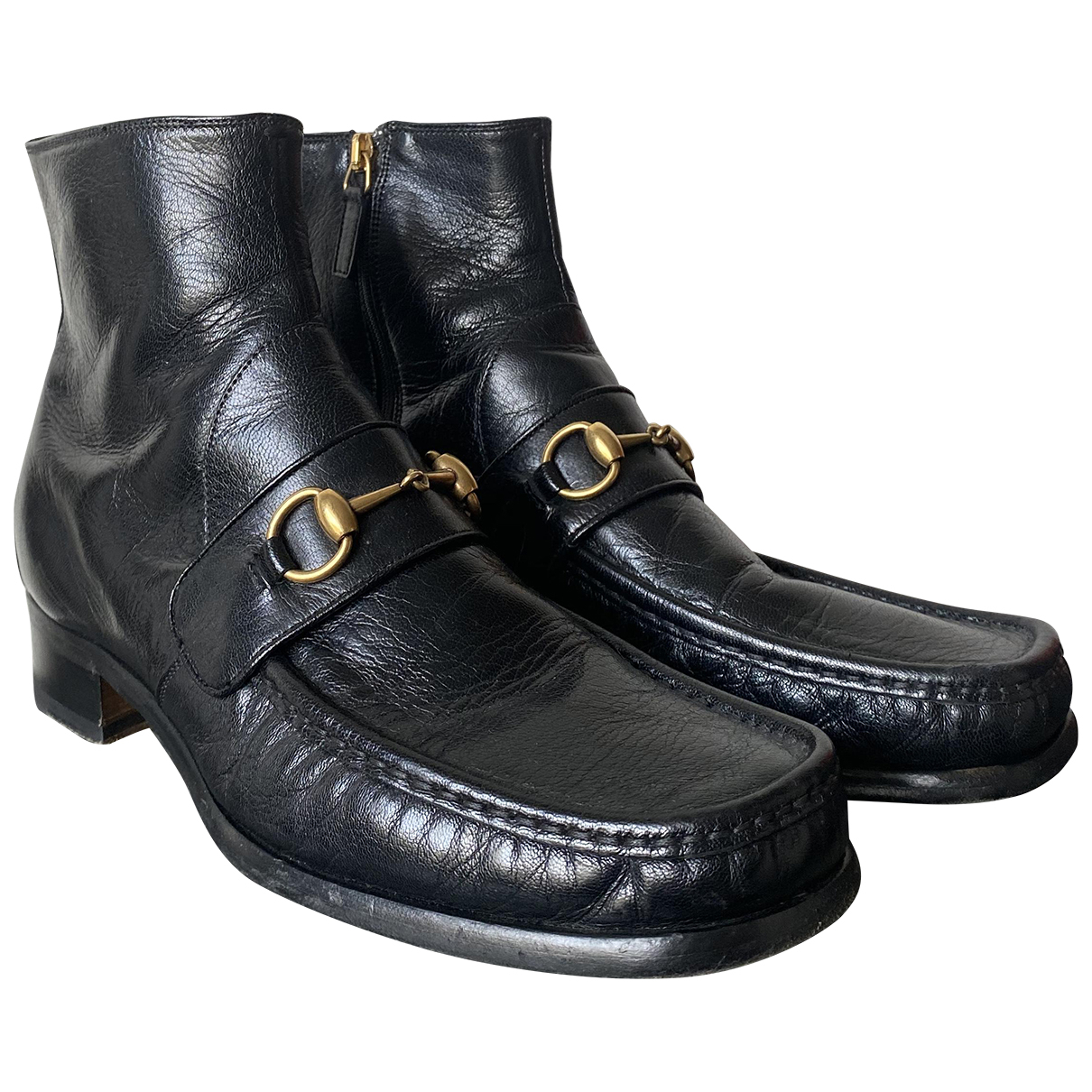 Gucci N Black Leather Boots for Men