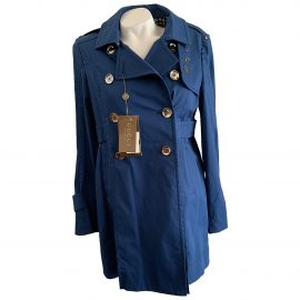 Gucci N Blue Cotton Trench Coat for Women