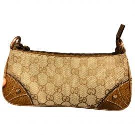 Gucci N Brown Cloth Clutch Bag for Women