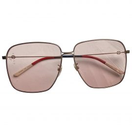 Gucci N Pink Metal Sunglasses for Women