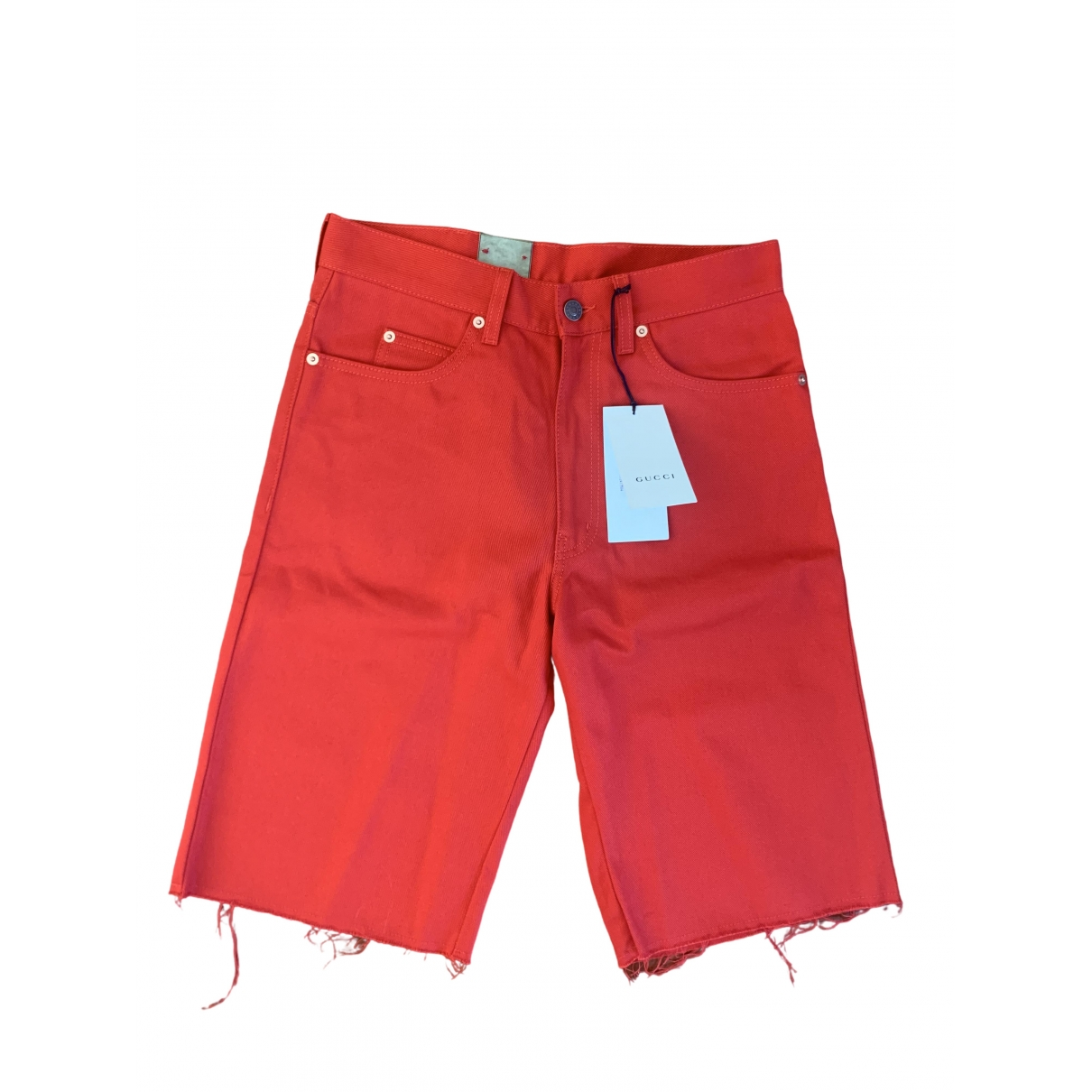 Gucci N Red Cotton Shorts for Men