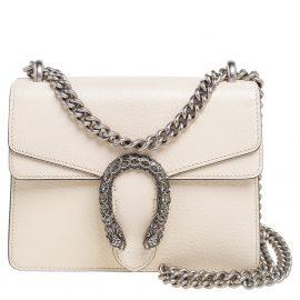 Gucci Off White Leather Mini Dionysus Shoulder Bag