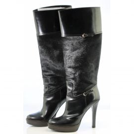 Gucci Pony-style calfskin riding boots