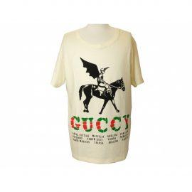 Gucci Silver Cotton T-shirt