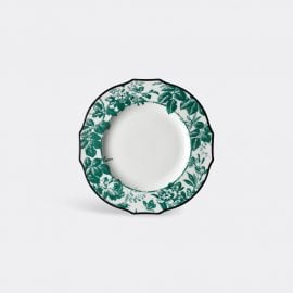 Gucci Tableware - 'Herbarium' dinner plate, set of two in Emerald Porcelain