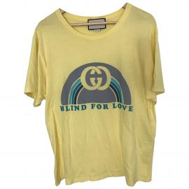 Gucci Yellow Cotton T-shirt