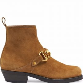 Gucci chain-link detail ankle boots - Brown