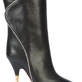 Gucci crystal embellished high ankle boots - Black