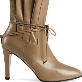 Gucci gathered bow detail ankle boots - Neutrals