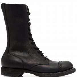 Guidi lace-up combat boots - Black