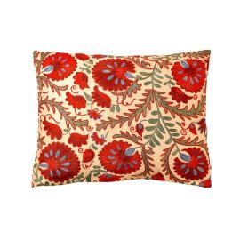 HERITAGE Geneve - Colosseum Carnation Suzani Ikat Double Sided Heritage Design Cushion