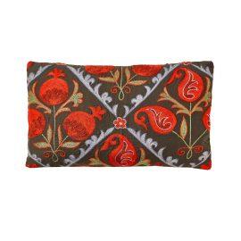 HERITAGE Geneve - Halicarnassus Mausoleum Suzani Ikat Silk Double Sided Heritage Design Cushion