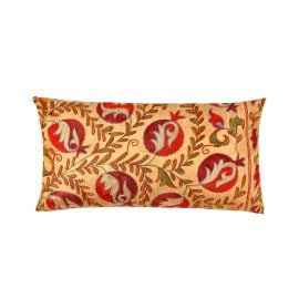 HERITAGE Geneve - Taj Mahal Pomegranate Suzani Ikat Silk Heritage Design Cushion