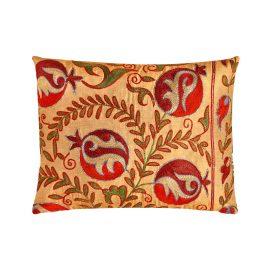 HERITAGE Geneve - Taj Mahal Punica Suzani Ikat Double Sided Heritage Cushion