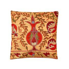 HERITAGE Geneve - Taj Mahal Silk Suzani Ikat Double Sided Cushion