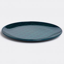 Hands on design Tableware - 'Network', blue in Blue Urushi lacquer, glass