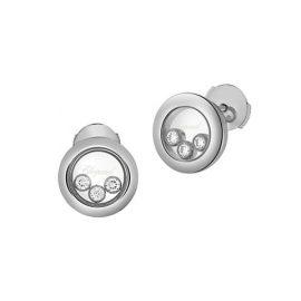 Happy Diamonds 18K White Gold Stud Earrings