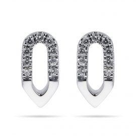 Harmony 18ct White Gold 0.10cttw Diamond Stud Drop Earrings