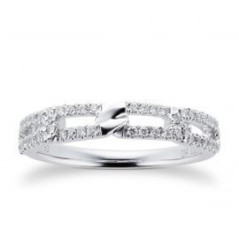 Harmony 18ct White Gold 0.20cttw Diamond Stacker Ring - Ring Size L
